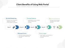 Client Benefits Of Using Web Portal
