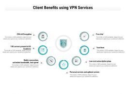 Client Benefits Using VPN Services