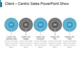 Client Centric Sales Powerpoint Show
