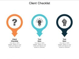 Client Checklist Ppt Powerpoint Presentation Gallery Picture Cpb