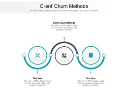 Client Churn Methods Ppt Powerpoint Presentation Icon Slide Portrait Cpb