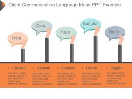 Client Communication Language Ideas Ppt Example