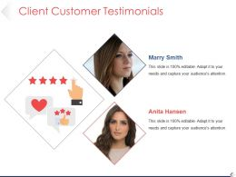 Client Customer Testimonials Powerpoint Guide