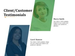 Client Customer Testimonials Powerpoint Ideas