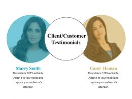 Client Customer Testimonials Powerpoint Slide Background Picture