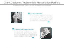 Client Customer Testimonials Presentation Portfolio