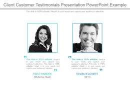 Client Customer Testimonials Presentation Powerpoint Example