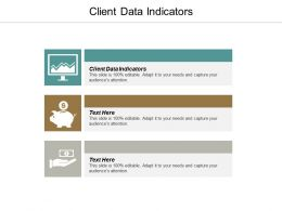 Client Data Indicators Ppt Powerpoint Presentation Diagrams Cpb