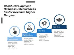 Client Development Business Effectiveness Faster Revenue Higher Margins