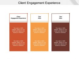 Client Engagement Experience Ppt Powerpoint Presentation File Show Cpb