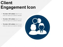Client Engagement Icon Sample Of Ppt