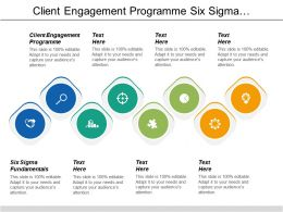 Client Engagement Programme Six Sigma Fundamentals Marketing Planning Cpb