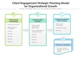 Client Engagement Strategic Planning Model For Organizational Growth