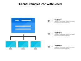 Client Examples Icon With Server