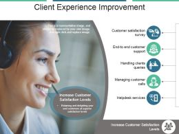 Client Experience Improvement Powerpoint Slide Designs
