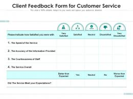 Client Feedback Form For Customer Service