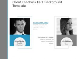 Client Feedback Ppt Background Template