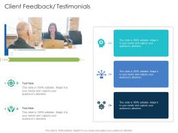 Client Feedback Testimonials Infographic Template