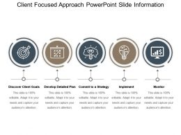 Client Focused Approach Powerpoint Slide Information