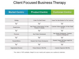 Client Focused Business Therapy Powerpoint Slides