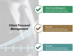 Client Focused Management Ppt Powerpoint Presentation File Example File Cpb