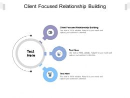 Client Focused Relationship Building Ppt Powerpoint Presentation Layouts File Formats Cpb