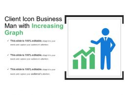 Client Icon Business Man With Increasing Graph