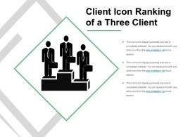 Client Icon Ranking Of A Three Client