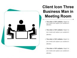 Client Icon Three Business Man In Meeting Room