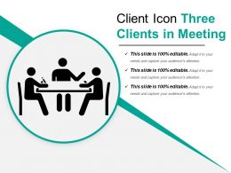 Client Icon Three Clients In Meeting