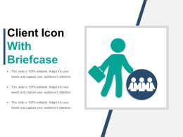Client Icon With Briefcase