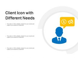 Client Icon With Different Needs