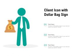 Client Icon With Dollar Bag Sign