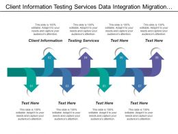 Client Information Testing Services Data Integration Migration Service