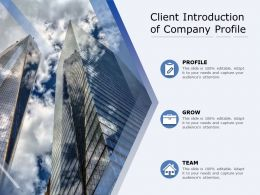 Client Introduction Of Company Profile