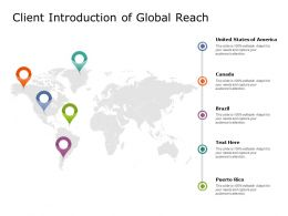 Client Introduction Of Global Reach