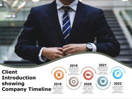 Client Introduction Showing Company Timeline