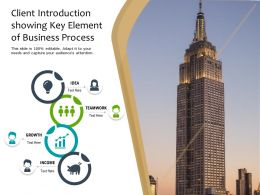 Client Introduction Showing Key Element Of Business Process