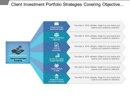 Client Investment Portfolio Strategies Covering Objective Risks And Investment Strategy