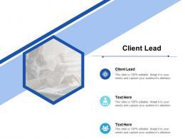 Client Lead Ppt Powerpoint Presentation Outline Templates Cpb