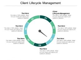 Client Lifecycle Management Ppt Powerpoint Presentation File Graphics Design Cpb