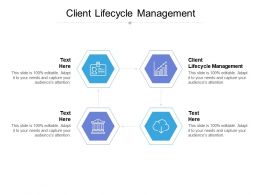 Client Lifecycle Management Ppt Powerpoint Presentation Outline Deck Cpb