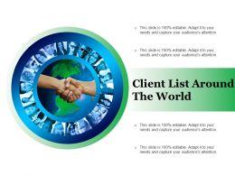 Client List Around The World
