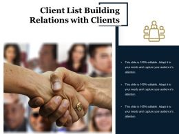 Client List Building Relations With Clients