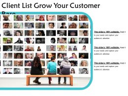 Client List Grow Your Customer Base