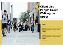 Client List People Group Walking On Street