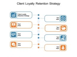 Client Loyalty Retention Strategy Ppt Powerpoint Presentation Slides Topics Cpb