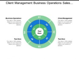 Client Management Business Operations Sales Plan Marketing Tools