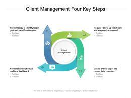 Client Management Four Key Steps