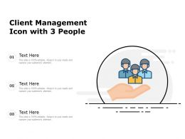 Client Management Icon With 3 People